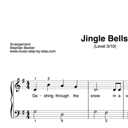 """Jingle Bells"" für Klavier (Level 3/10) 