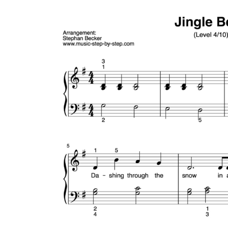 """Jingle Bells"" für Klavier (Level 4/10) 