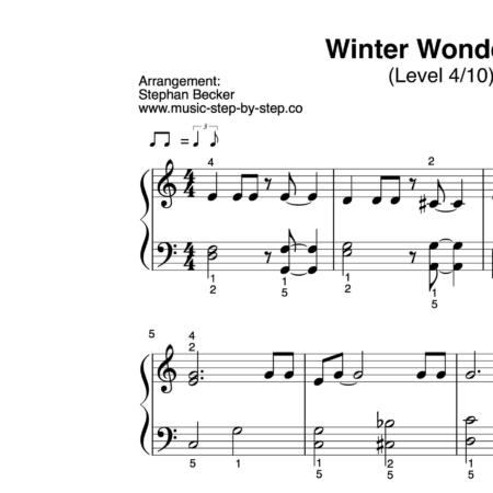 """Winter Wonderland"" für Klavier (Level 4/10)"