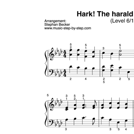 """Hark! The herald angels sing"" für Klavier (Level 6/10)"