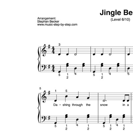 """Jingle Bells"" für Klavier (Level 6/10) 