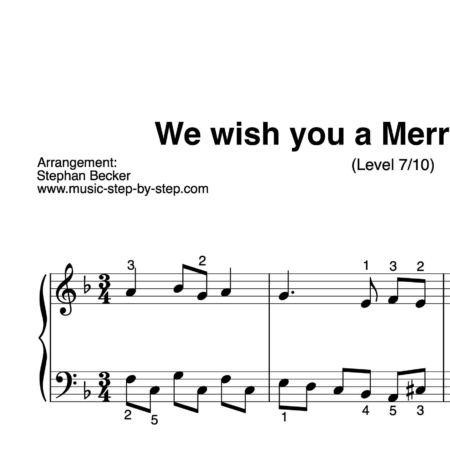 """We wish you a Merry Christmas"" für Klavier (Level 7/10) 