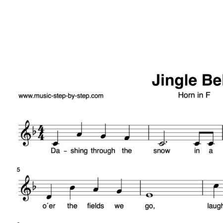 """Jingle Bells"" für Horn in F solo 