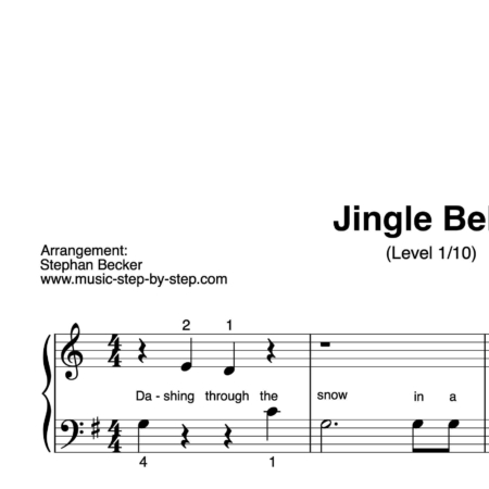 """Jingle Bells"" für Klavier (Level 1/10) 
