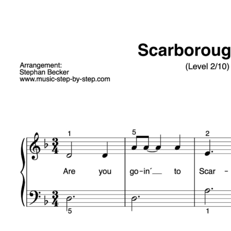 """Scarborough Fair"" für Klavier (Level 2/10) 