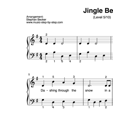 """Jingle Bells"" für Klavier (Level 5/10) 