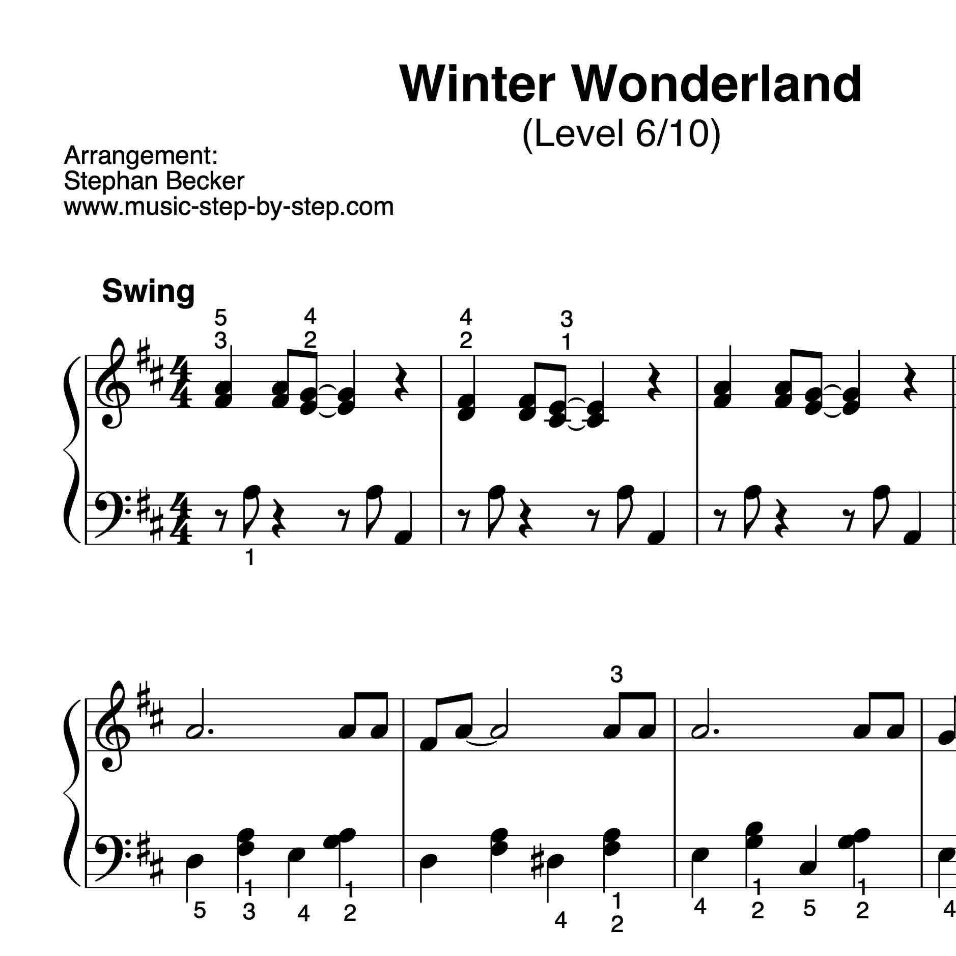 L6 Winter Wonderld für Klavier