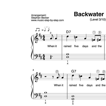 """Backwater Blues"" für Klavier (Level 3/10) 