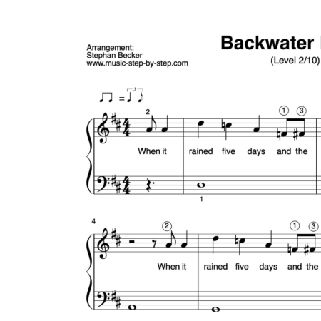 """Backwater Blues"" für Klavier (Level 2/10) 