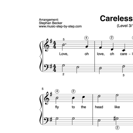 """Careless Love"" für Klavier (Level 3/10) 