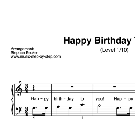 """Happy Birthday To You"" für Klavier (Level 1/10) 