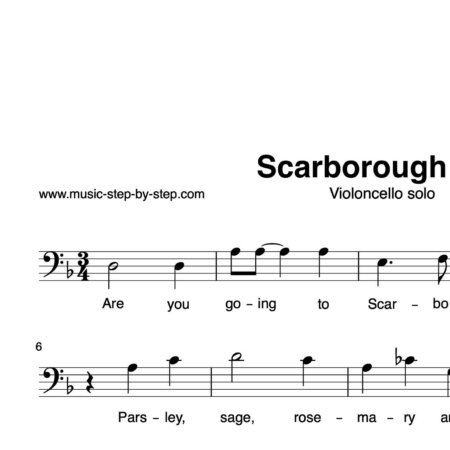 """Scarborough Fair"" für Cello solo 
