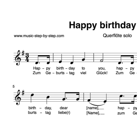 """Happy Birthday to You"" für Querflöte solo 