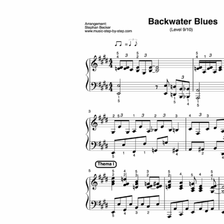 """Backwater Blues"" für Klavier (Level 9/10) 