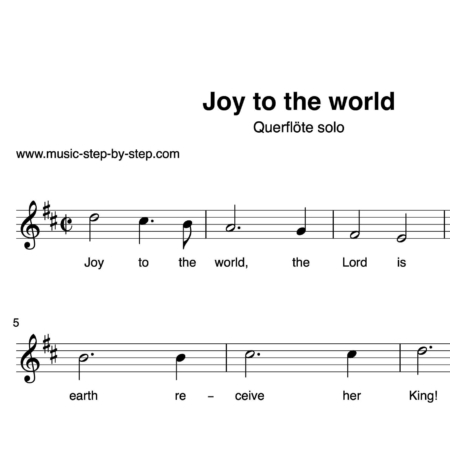 """Joy to the world"" für Querflöte solo 