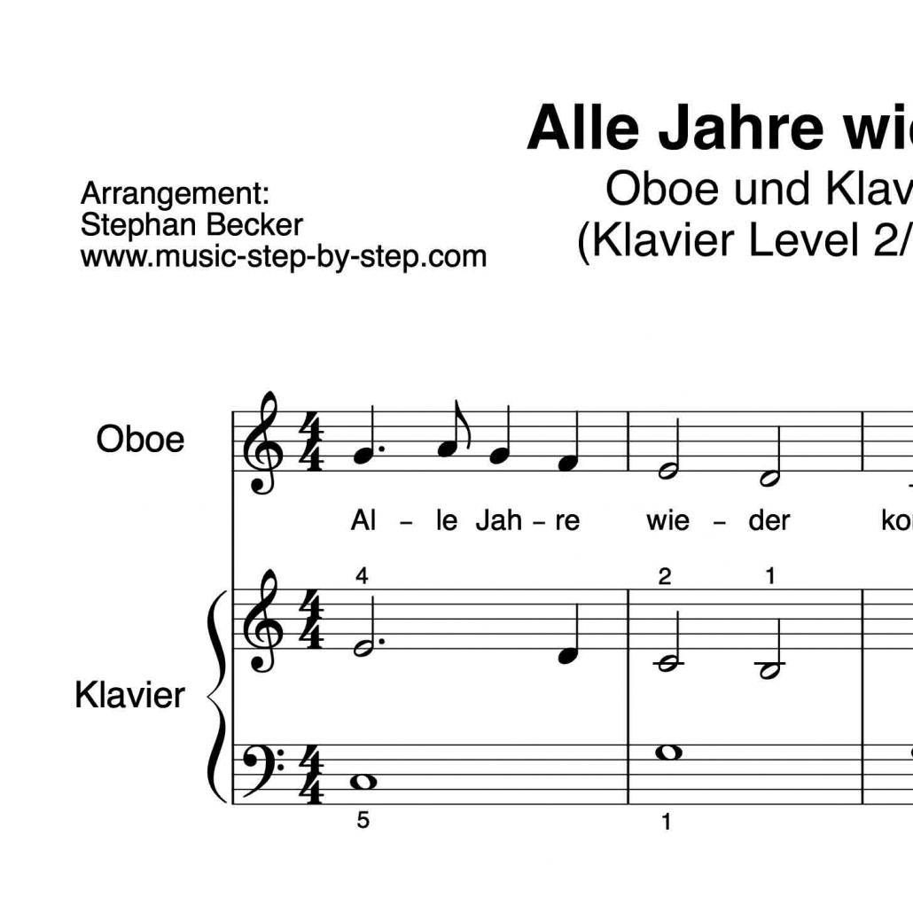 alle jahre wieder  für oboe  klavierbegleitung  aufnahme