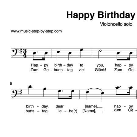 """""""Happy birthday to you"""" für Cello solo 