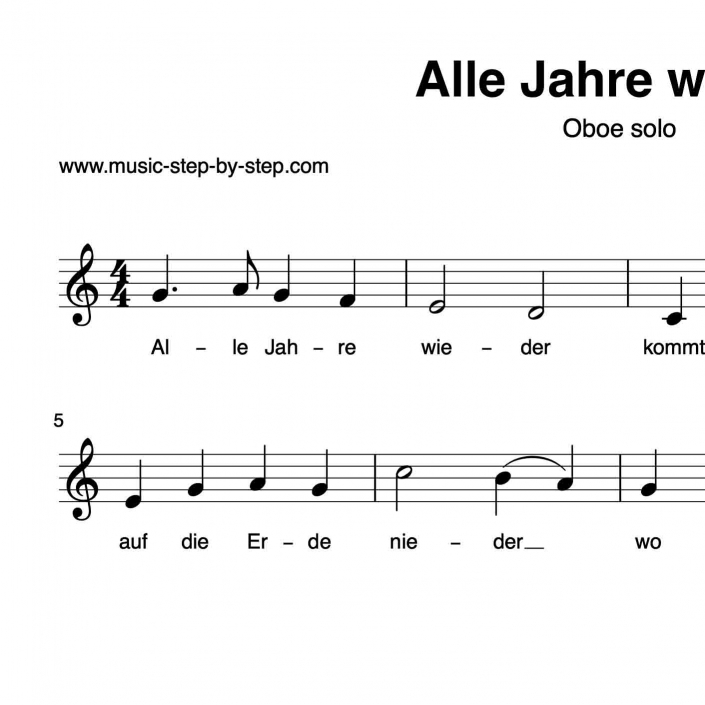 """""""alle jahre wieder"""" für oboe solo  inkl aufnahme und"""
