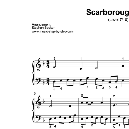 """Scarborough Fair"" für Klavier (Level 7/10) 