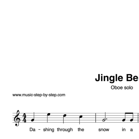 """Jingle Bells"" für Oboe solo 