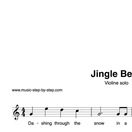 """Jingle Bells"" für Violine solo 