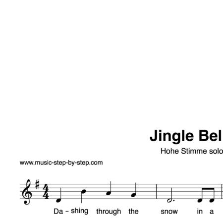 """Jingle Bells"" für Gesang, hohe Stimme solo 