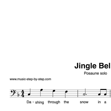 """Jingle Bells"" für Posaune solo 
