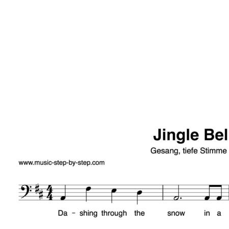 """Jingle Bells"" für Gesang, tiefe Stimme solo 