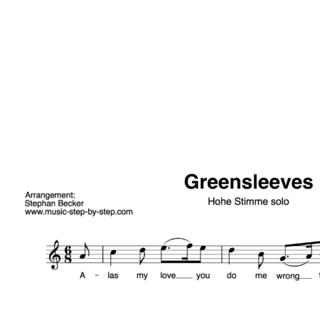 """""""Greensleeves"""" für Gesang, hohe Stimme solo 