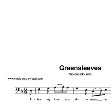 """Greensleeves"" für Cello solo | inkl. Aufnahme und Text by music-step-by-step"